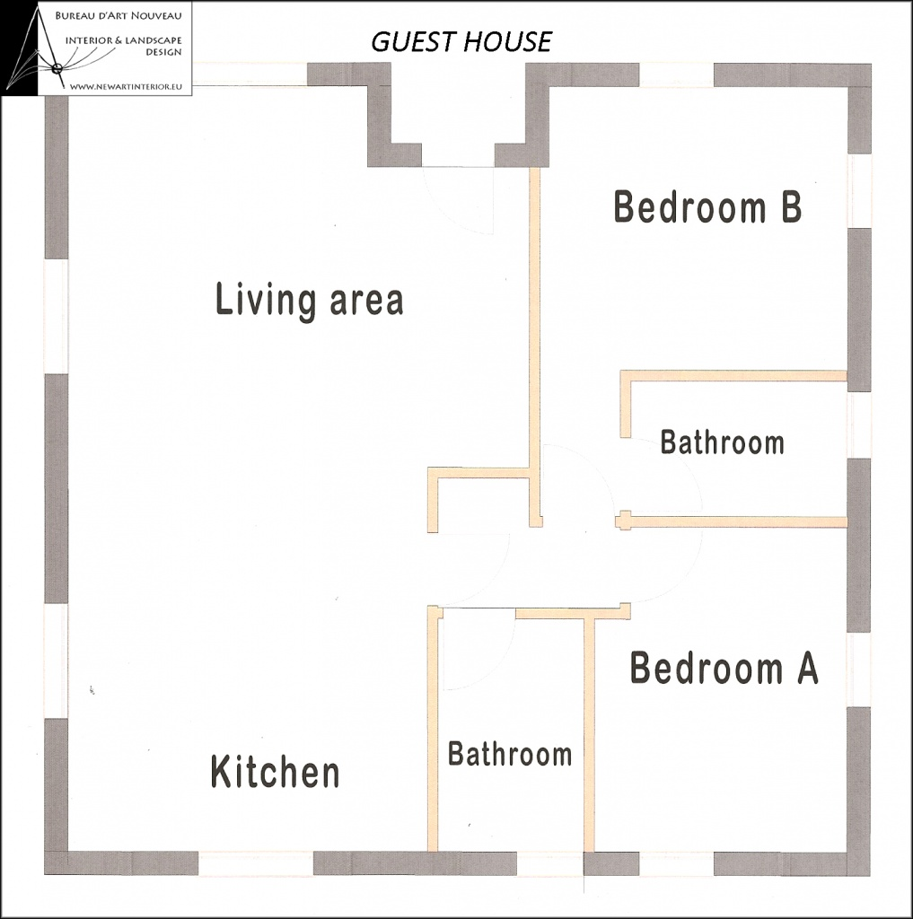 Superb Ground Floor Plan; Attic Floor Plan; Guest House Plan